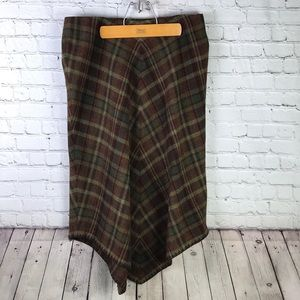 Ralph Lauren Plaid Tartan Blanket Skirt Sz 12